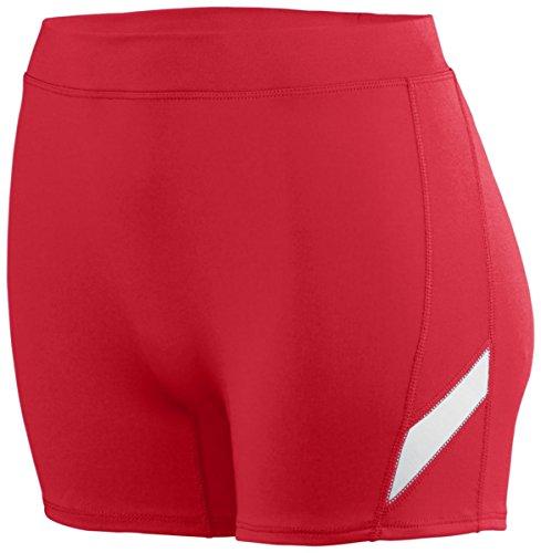 Augusta - Short de sport - Femme Rouge, blanc