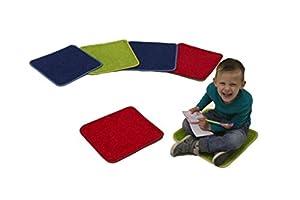 Learning Carpets Cuadrados de Alfombra, Color sólido CPR 546