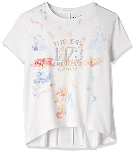 Pepe Jeans Girls' T-Shirt (CHELSEA K SS_Off-White_8)  available at amazon for Rs.279