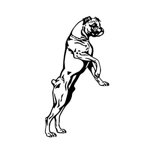 Wandaufkleber Hund Wandaufkleber Für Kinderzimmer Kreative Tier Boxer Hund Removble DIY Tapete Wandkunst Aufkleber Dekoration Zubehör 59x31 cm - Pop-kunst-boxer