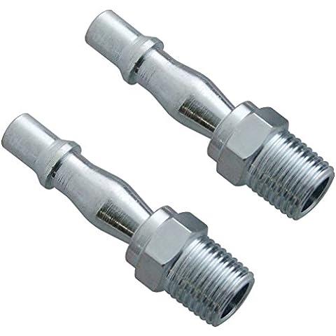 Am-tech Y0405 - Raccordo a baionetta 1/4 per tubo flessibile, maschio, 2 pezzi
