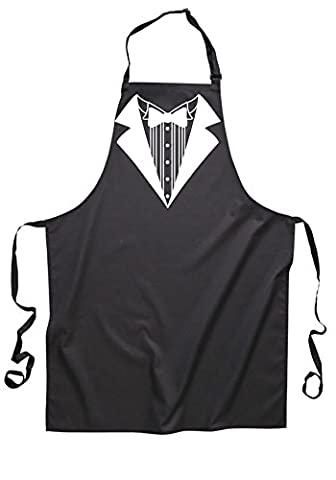 tuxedo suit cool apron funny chief cook food kitchen joke cooking (black)