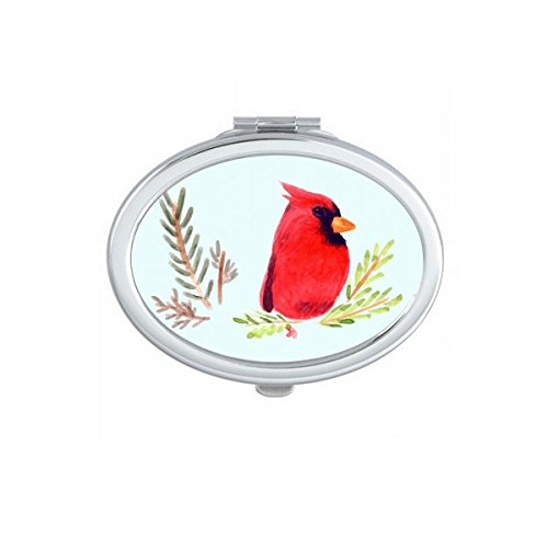 DIYthinker Vogel Tier Elster Red Oval Compact Make-up Spiegel Beweglicher Nette Handtaschenspiegel Geschenk -