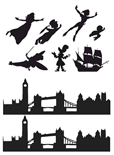 peter-pan-wendy-london-skyline-silhouette-edible-icing-decor-for-themed-cake-1-black-silhouette