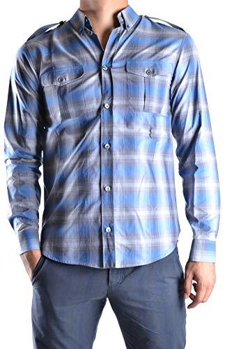 Marc Jacobs Herren Mcbi11690 Blau Baumwolle Hemd