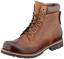 Timberland Herren Rugged 6 Inch Plain Toe Waterproof Stiefel, Braun (Medium Brown), 41 EU