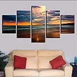 zlxzlx (Nessuna Cornice) Home Living Room Wall Art Decor Stampe Moderne 5 Pezzi Beach Sunset EQuadri Quadri in Tela Artwork
