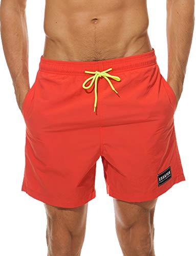 HAINE Short de Bain pour Homme Short de Bain Block, Maillot de Bain pour Homme, Short de Plage, Pantalon de Bain dans Les Tailles M à 3XL