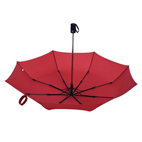 Binwo Compatto Pieghevole con apertura e chiusura automatica ombrello, ombrello da viaggio, portatile e leggero Super antivento Anti-UV Pioggia Sole Ombrello