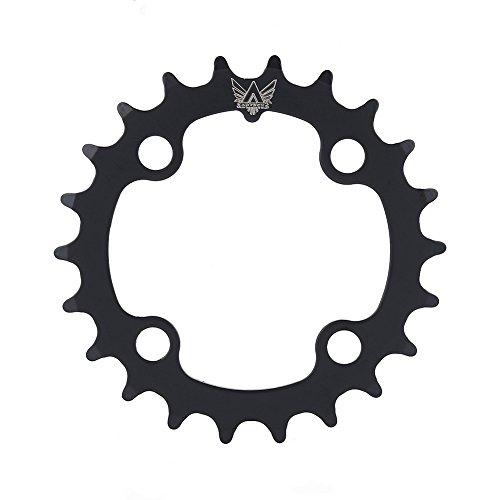 Dioche Fahrrad Einzelnes Kettenblatt, 22T Kohlenstoffstahl Fahrrad Schmales Breites Kettenblatt FüR BCD 104mm 9 Beschleunigen Fahrrad