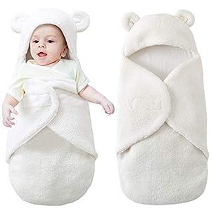 Yinuoday Manta con capucha para recién nacidos con capucha, Manta Swaddle para bebés Saco de dormir ultra suave para…