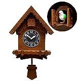 NANANA Orologio a cucù Originale della Foresta Nera, Orologio a cucù della Foresta Nera con Meccanismo Azionato da Batteria, Funzionamento a Batteria con Carillon Musicale, 37x30.5cm,b