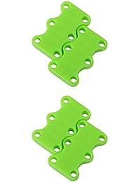 Footful 2 Paires 2 Tailles Fermeture de Lacets Magnétique Laçage Rapide Cache Embout de Lacet