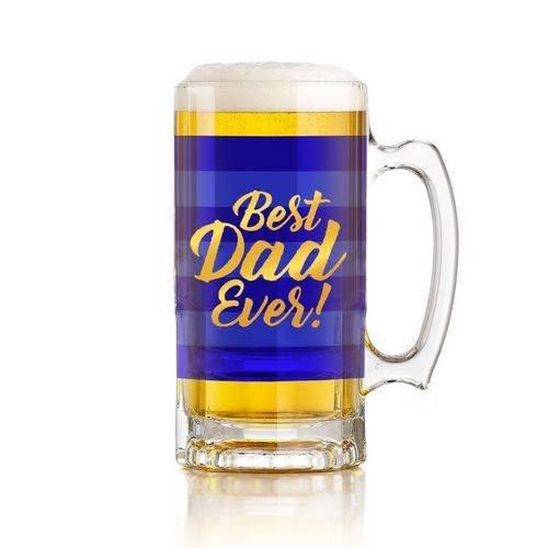 Best Dad Ever Chope en verre – Livré dans une boîte