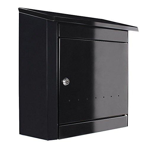 Rottner Stahl-Briefkasten Turin mit sehr großem Fassungsvolumen anthrazit T04665 (Rot Box Steel Tool)