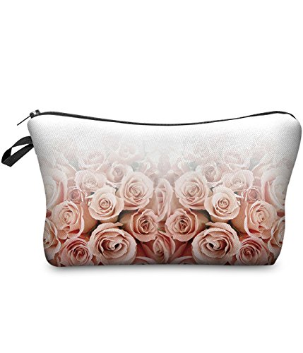 BetterStylz Vivian Kulturbeutel Federmappe Kosmetiktasche Mäppchen All Over Full Print (Roses Ombre) (Kosmetiktasche Rosen)