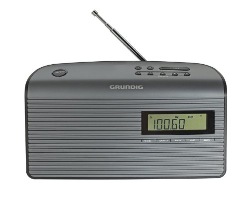 Grundig Music 61 empfangsstarkes Radio, black/graphite (Tragbares Radio Digital-tv)