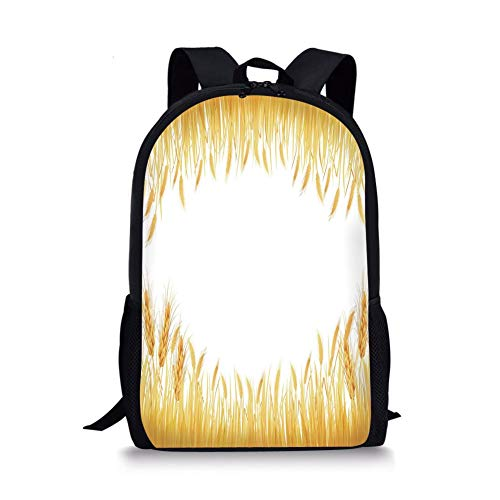 School Bags Yellow,The Wooden Horizontal Background Texture from Oak Tree Timber Design for Lliving Decorative,Light Yellow for Boys&Girls Mens Sport Daypack -