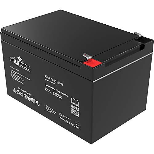 Offgridtec AGM Solar Batterie Extrem zyklenfest 12 Ah 20 Stünde 12V, 2-01-001985