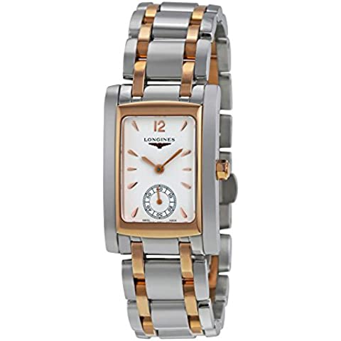 Longines Dolce Vita Mid-size Steel & 18k Rose Gold Womens Watch White Dial L5.502.5.18.7