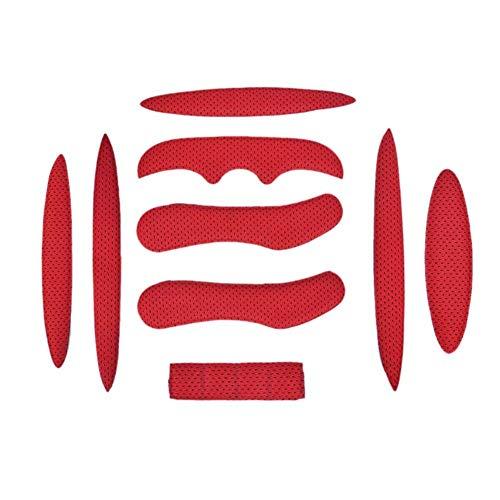 Iswell Helmpolster-Kit Universal-Schaumstoffpolster-Set Universal-Airsoft-Helmpolster für Fahrräder Motorrad-Fahrradhelm Ersatzpolster-Kissen mit Klettverschluss