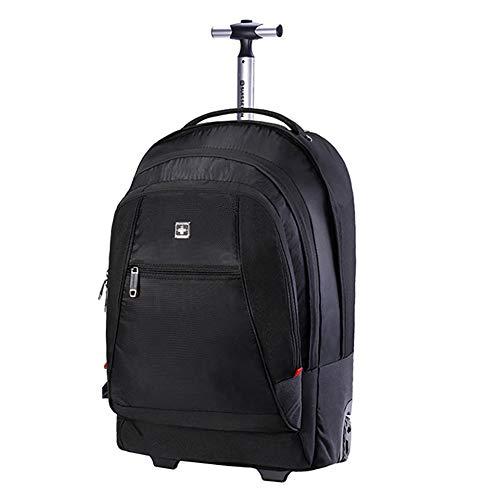 LRLANI Trolley-Rucksack Business-Reisetasche, wasserdichte Laptoptasche mit großer Kapazität, Multifunktionsgepäck, 50 l, 2 in 1, schwarz -