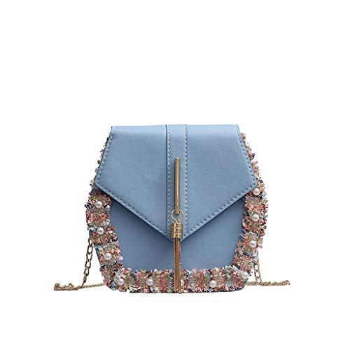Kostüm Männlich Single - XZDCDJ Crossbody Tasche Damen UmhängeTaschen Daypacks Frauen Fransen Perle Wild Messenger Bag Fashion Single Umhängetasche
