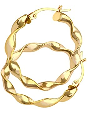Citerna Damen-Creolen 9 Karat (375) Gelbgold