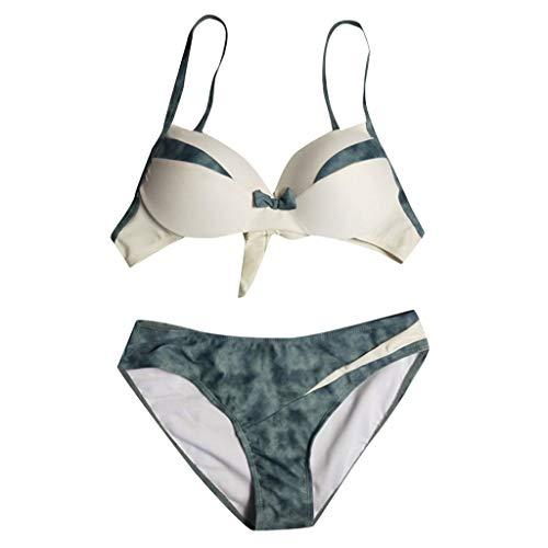 Vintage Lace Bikini Sets Strandbadebekleidung Badeanzug Frauen Plus Size Print Tankini Swimjupmsuit Badeanzug Beachwear Gepolsterte Badebekleidung ()