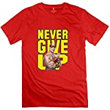 Men's WWE Never Give Up John Cena T-Shirt Natural Natural-XL