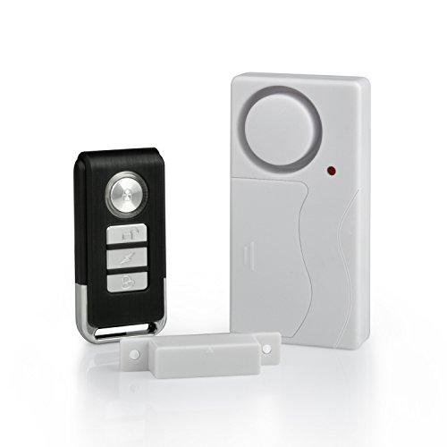 ShareLot Funk Alarmanlage,Tür Fenster Alarm mit IR Fernbedienung und Magnet Sensor, 105dB laut Sicherheit System