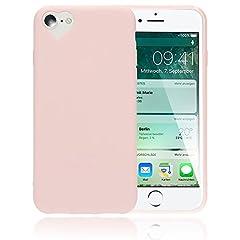Idea Regalo - NALIA Cuore Custodia compatibile con iPhone 8/7, Protezione Ultra-Slim Case Cover Protettiva Morbido Telefono Cellulare in Silicone Gel Gomma Smartphone Bumper Sottile, Colore:Rosa