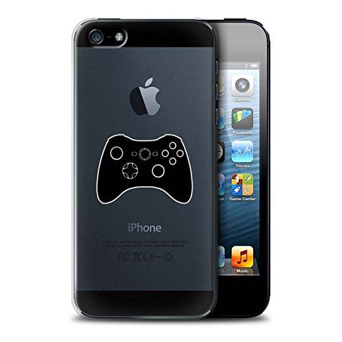 Coque de Stuff4 / Coque pour Apple iPhone 5/5S / PS1/PS2/PS3 Noir Design / Manette Jeux Vidéo Collection Xbox 360 Noir