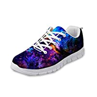 Advocator Galaxy Print Fashion Running Shoes Breathable Mesh Waking Sneakers Lightweight Athletic Shoes for Women Men Colorful