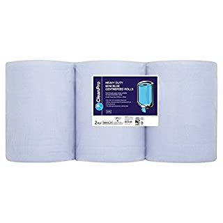 ( 6 Pack ) Clean Pro 6 Heavy Duty Mini Blue Centrefeed Rolls 2 Ply