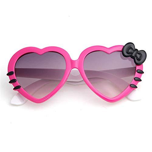 Wang-RX Sommer-Karikatur-nette Herz-Bogen-Katzen-Sonnenbrille-Glas-Brillen Eyeware für Kind-Mädchen-Jungen-Kind