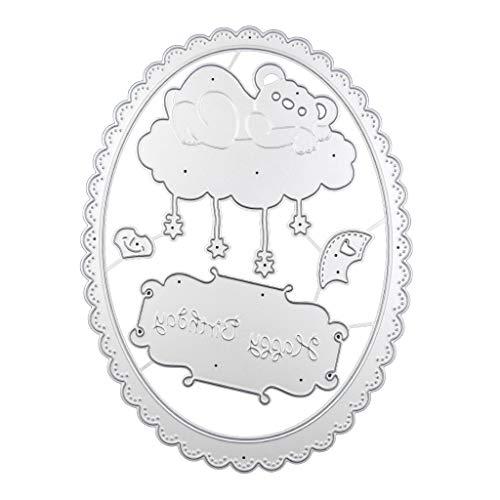 Xurgm Happy Birthday - Fustella in acciaio al carbonio, motivo: orso, per scrapbooking