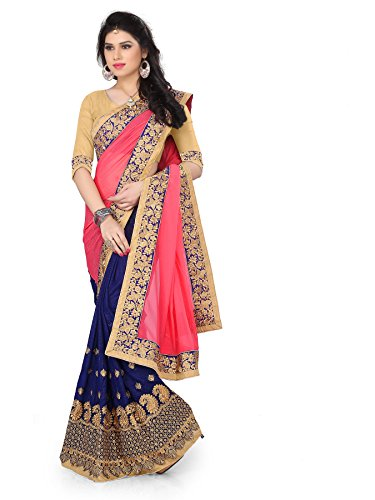 Lajree Women\'s Georgette Saree With Blouse Piece (Fba Gangani 1180_Pink)