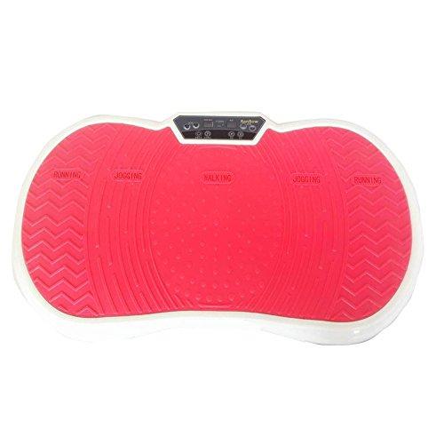 RanBow Vibrationsplattform Maschine Eingebauter Bluetooth Lautsprecher, Ganzkörper Vibrationsplatte mit Resistance Bands und Fernbedienung inklusive - Rot