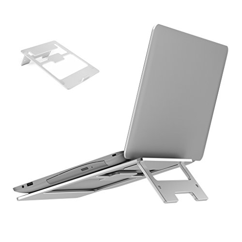 Laptop Stand Faltbare Notebook Halter Display Mount Dock für MacBook Pro, MacBook Air, iPad Tablet, 11-15 Zoll Notebooks, Silber