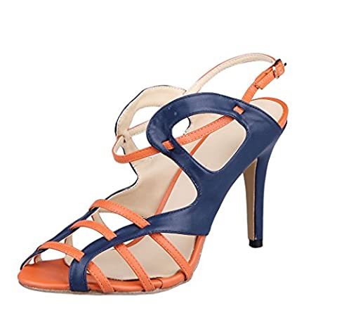 TDA , Peep-Toe femme - multicolore - bleu/orange,