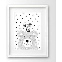 Babyposter ungerahmt, Bär und Hi