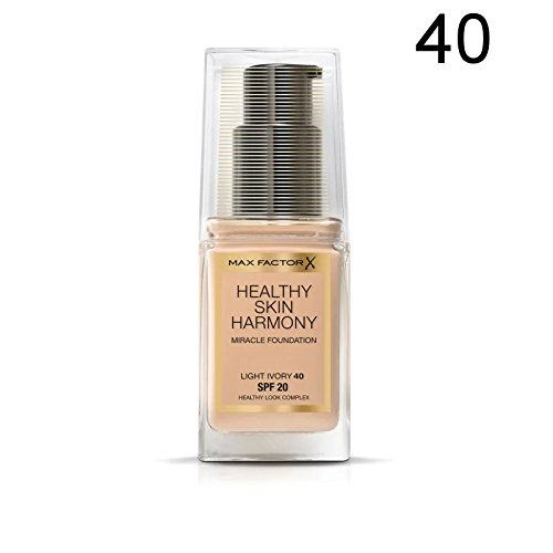 2 x Max Factor Healthy Skin Harmony Miracle Fond de teint - 40 Light Ivory