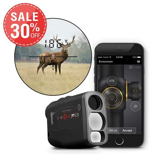 theOpticGuru ATN Laser-Entfernungsmesser mit Bluetooth, Ballistischer Taschenrechner und Shooting Solutions App, 1000m