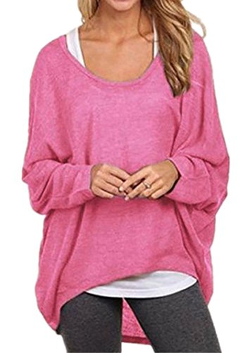 kaking-womens-long-batwing-sleeve-loose-pullover-casual-top-blouse-t-shirt
