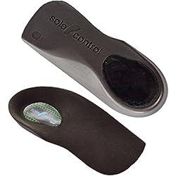 2 Pares Sole Control Tech 3/4 longitud delgada del ajuste de plantillas ortopédicos, la ayuda de arco, fascitis plantar, espolón calcáneo pies planos, arcos caídos, pronación (S (EU 37-39.5))