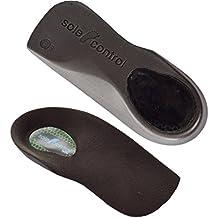 2 Pares Sole Control Tech 3/4 longitud delgada del ajuste de plantillas ortopédicos, la ayuda de arco, fascitis plantar, espolón calcáneo pies planos, arcos caídos, pronación