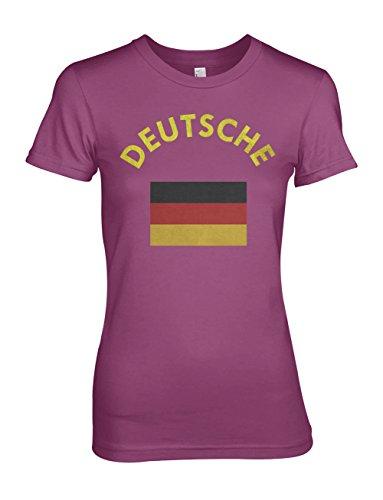 Deutsche Deutschland Germany German Flag Damen T-Shirt Pink
