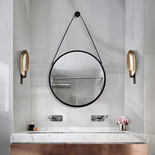 Espejo de Baño Espejo Maquillaje Espejo de tocador Espejo retrovisor para pared de metal...