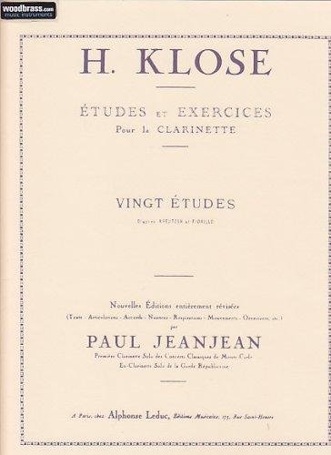 H.KLOSE : 20 Études et Exercices pour la Clarinet...